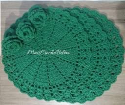 Sousplat crochê natalino verde