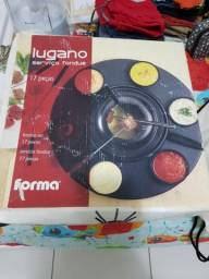 Lugano serviço de fondue carroussel 17 peças