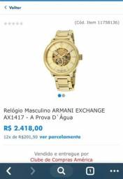0979420f229 Relógio Armani sem detalhes