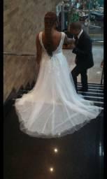 Vestido de noiva mais terno luxo