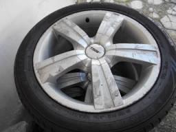 """4 Rodas com pneus dunlop 215/50 roda 17"""""""