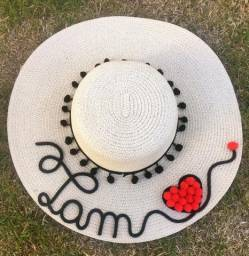 Chapéu de palha personalizado