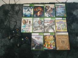 Xbox 360+2Controle+Kinect+10jogos
