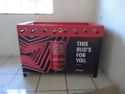 Mesa de Pebolim Budweiser com cooler
