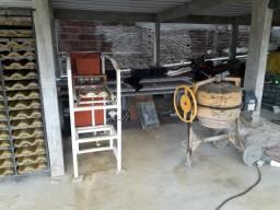 Máquina de fazer telha de concreto