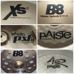 Parcelo Pratos Crash China Splash Ozone Paiste Sabian B20 B8 zildjian bateria