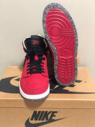 Air Jordan 1 High Zoom Crater Covered Red Suede 10us/42br