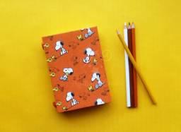 Caderno artesanal Snoopy
