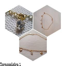 Tornozeleira feminina, cordão Masculino e pulseiras Masculino