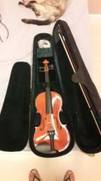 Violino 4/4 michael Vnm40 + estojo luxo +espaleira