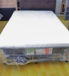 Cama box casal com 10 cm espuma -Novo