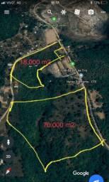 Área com 70.000 m2 escriturada no Caji