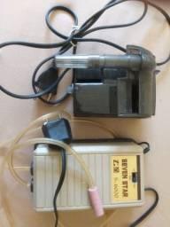 <br>Bomba para Aquário e filtro esterno
