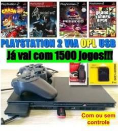 Play 2 - PS 2 com 1500 jogos