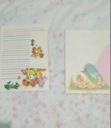 Título do anúncio: 2 papeis de cartas com envelopes.