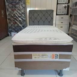 Título do anúncio: cama solteiro luxo alta com pilow 689,00! ENTREGA GRÁTIS E IMEDIATA!