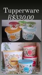 Linha floral tupperware R$330,00