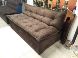 Título do anúncio: Sofá cama reclinavel novo com várias cores disponíveis
