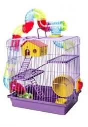 Título do anúncio: Gaiola para Hamster 3 Andares Tubo Luxo Lilás