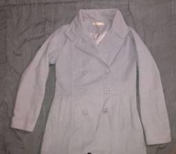 Casaco lã batida, parka e blusa nova