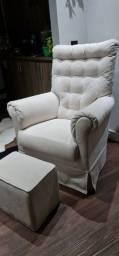 Cadeira amamentação com giro e balanço