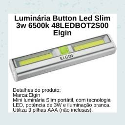 Título do anúncio: Luminária Button Led Slim 3w 6500k 48LED Elgin