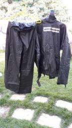 Capa de chuva para motoqueiro Pantaneiro preto Tam G