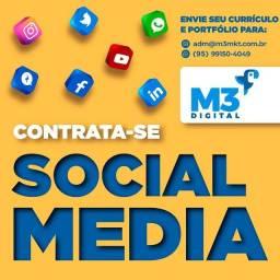 Título do anúncio: Empresa em expansão contrata Social Media!