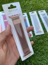 pulseiras metálicas para smartwatch