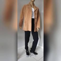 Jaqueta em couro legítimo com CGC