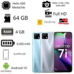 Título do anúncio: Celular Realme 7i 64 GB/4 GB RAM até 10 x sem juros no cartão