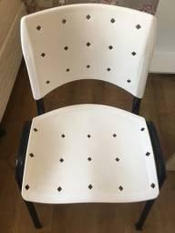 Título do anúncio: Cadeira ISO de escritório branca, base preta