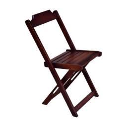 Cadeira De Madeira Dobravel Imbuia