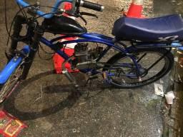 Bicicleta motorizada pra vende e troca ok