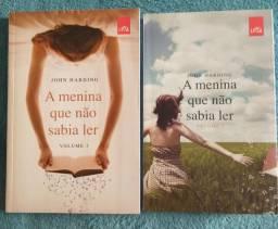 """Título do anúncio: Livros """"A menina que não sabia ler"""", volumes 1 e 2, novinhos, nunca lidos."""