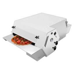 Título do anúncio: Forno De Esteira Para Pizza E Esfiha Inox 5 Velocidades Saro