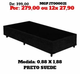 Título do anúncio: Base Box de Solteiro 88cm- Cama Base Box Suede- Promoção em Curitiba
