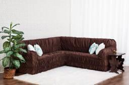Título do anúncio: Capa de sofá de canto elasticada