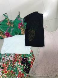 Roupas (blusas, academia, vestido, short)
