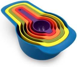 Título do anúncio: Medidores de cozinha xícaras e colheres kit 06 peças encaixáveis