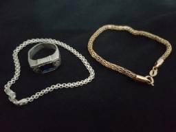 Título do anúncio: Vendo kits ( anel e pulseira de prata ) ( Pulseira Romance )