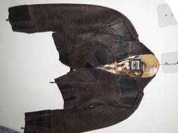 Jaqueta de couro seminova