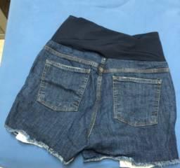 Short jeans cós gestante