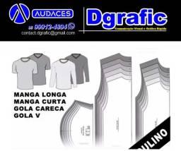 na dgrafic desenvolvemos modelagem de calça, camisa, blusa, jaleco, bata e etc...