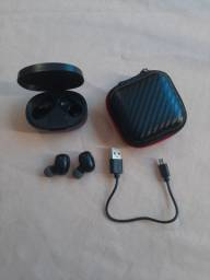 Fone de ouvido in-ear sem fio Bluetooth 5.0
