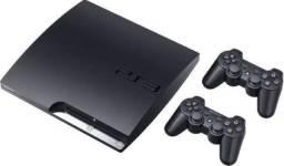 Playstation 3 160GB Slim + 2 Controles + 1000 Jogos