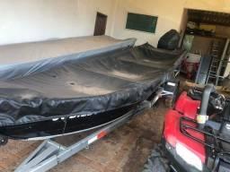 Título do anúncio: Barco 6M, Motor 40 Yamaha e Carretinha