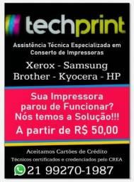 Manutenção de impressoras-copiadoras-Multifunional-Laser/Jato de tinta/Termica/Cera