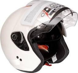 Capacete Honda Aberto com Óculos Interno