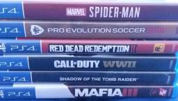 Spider man, pes19,red dead redemption 2, codww2, shadow of the tomb raider, mafia 3